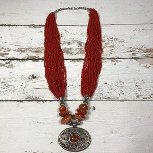 Ethnic Red Necklace